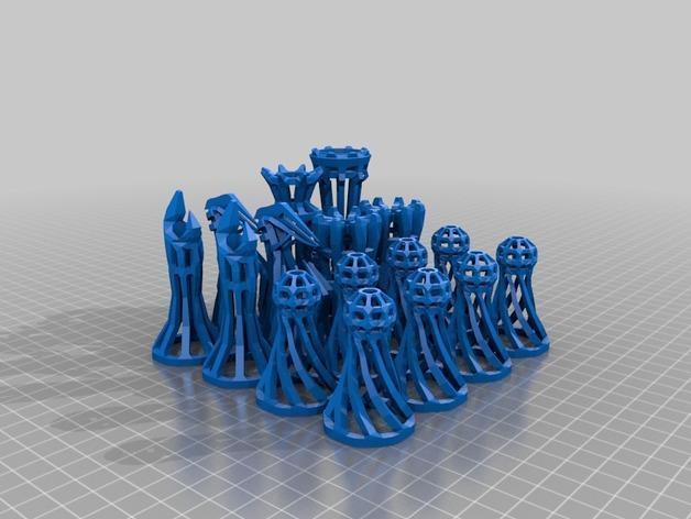 镂空象棋 3D模型  图8