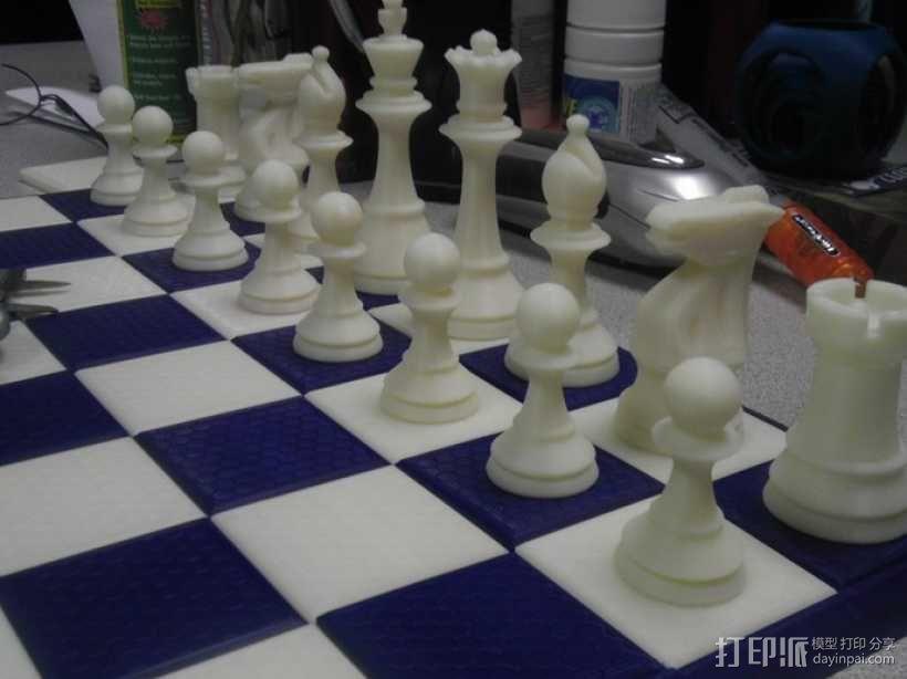 经典象棋套件 3D模型  图2