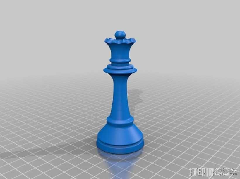 经典象棋套件 3D模型  图13