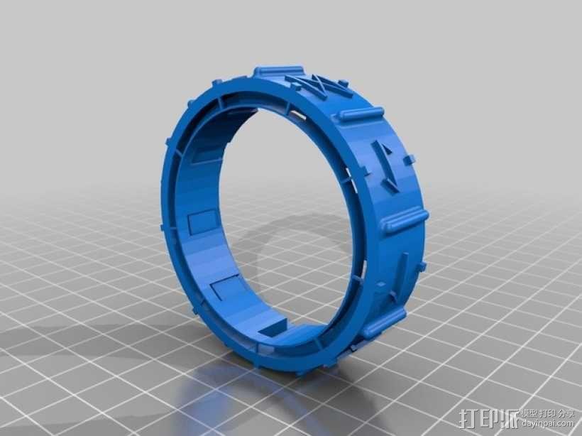 密码筒 3D模型  图2