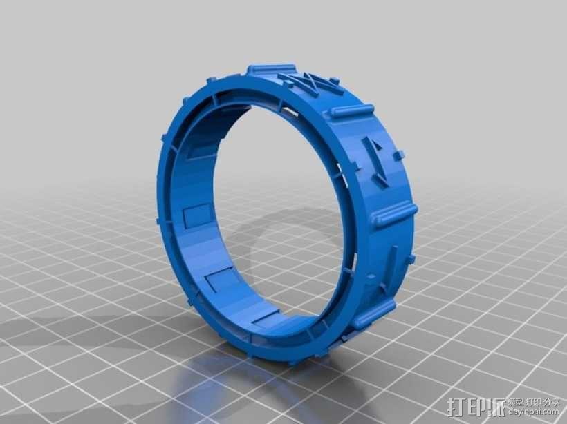 密码筒 3D模型  图3