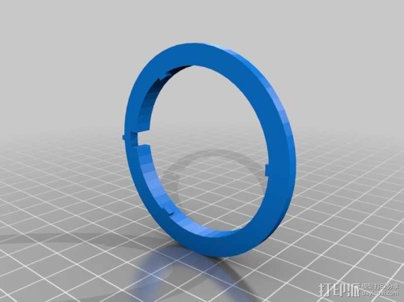 密码筒 3D模型  图4