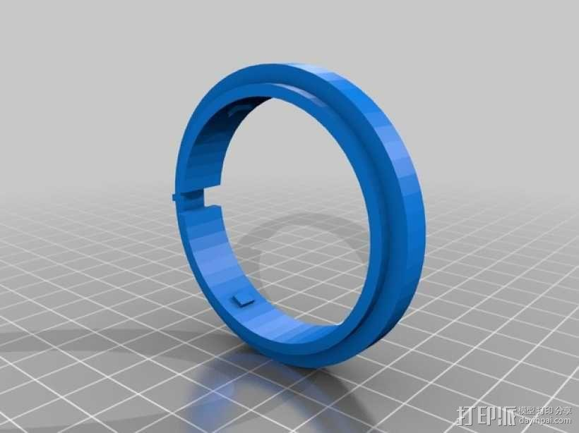 密码筒 3D模型  图7