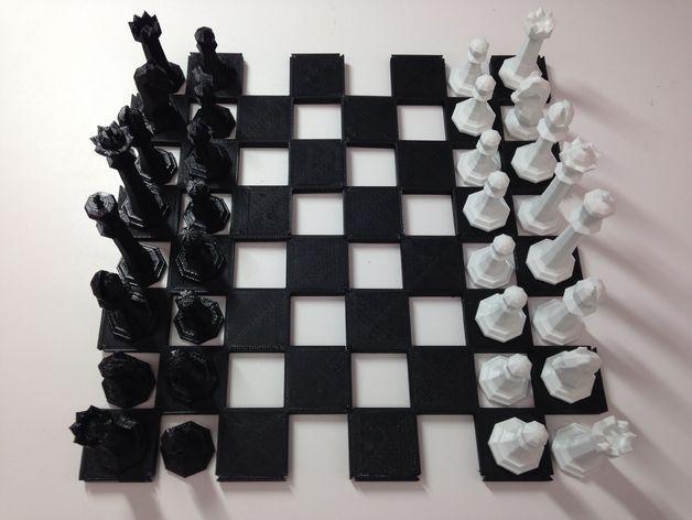 可扩展棋盘 3D模型  图1