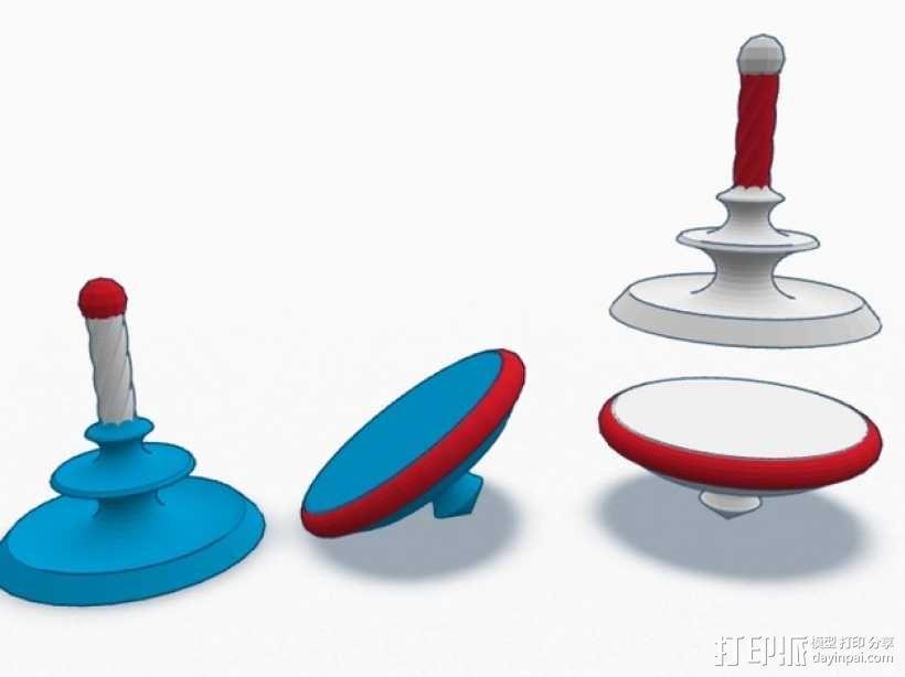 旋转陀螺 3D模型  图5