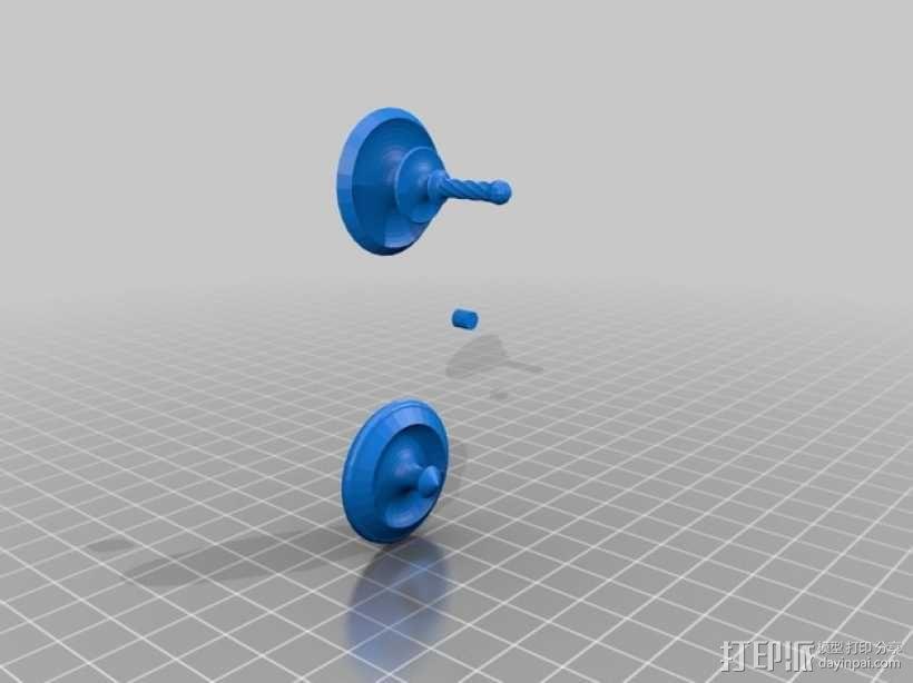 旋转陀螺 3D模型  图3