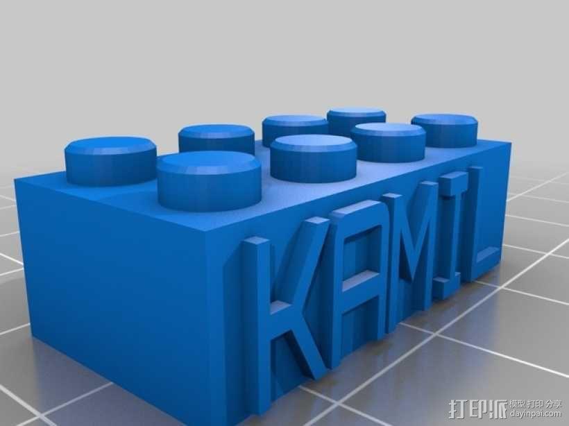乐高积木项链/钥匙链 3D模型  图5