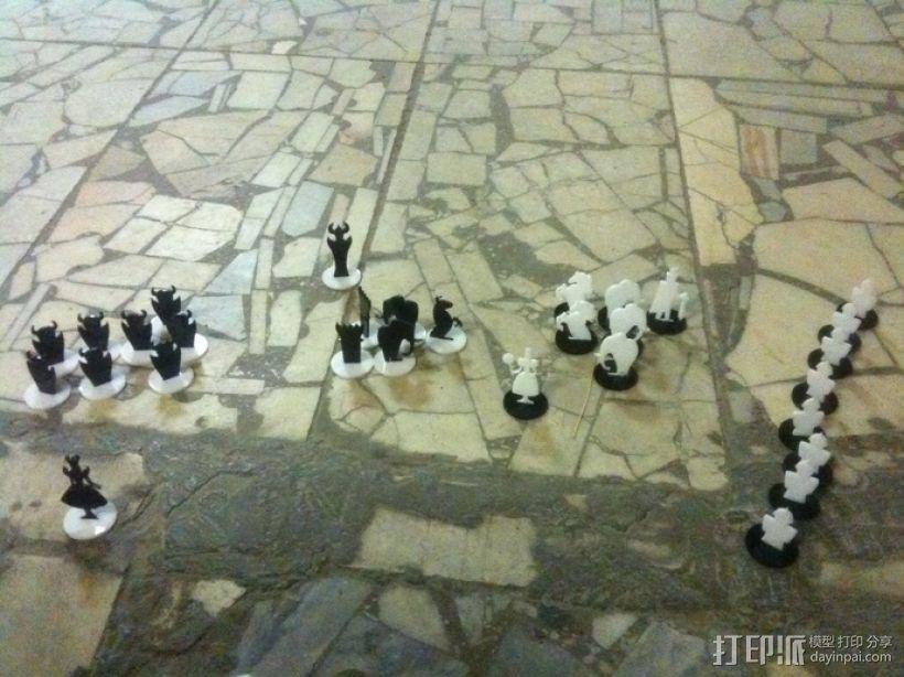 经典黑白象棋 3D模型  图2