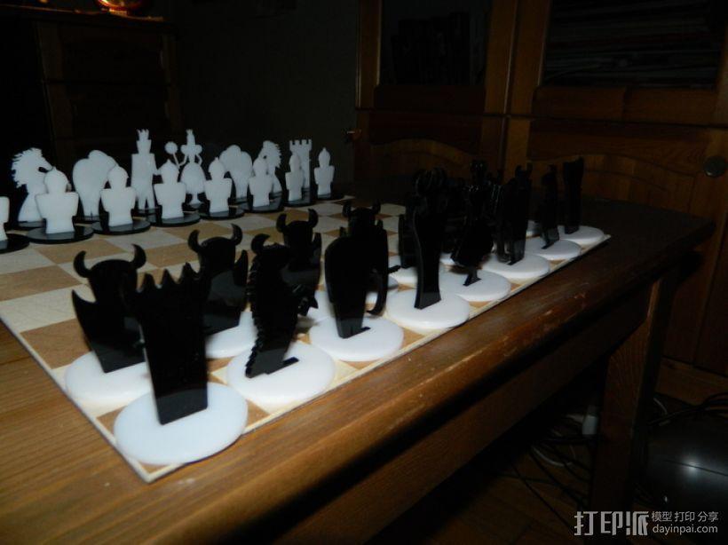 经典黑白象棋 3D模型  图5