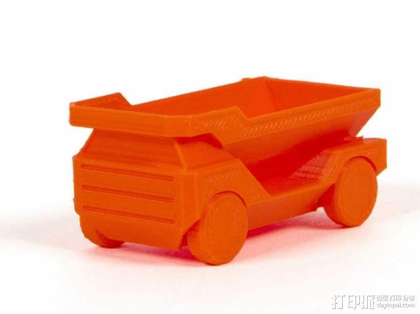 自动倾卸卡车 3D模型  图1