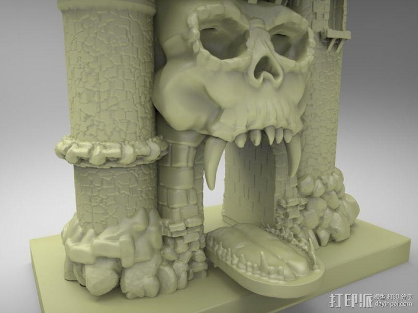 骷髅头城堡 3D模型  图3