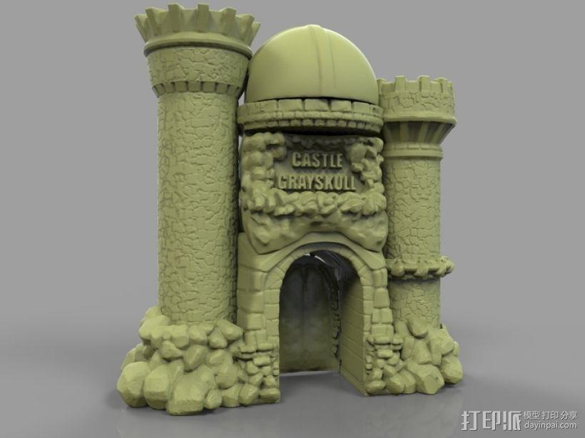骷髅头城堡 3D模型  图2