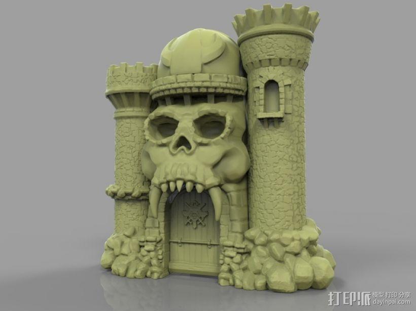骷髅头城堡 3D模型  图1