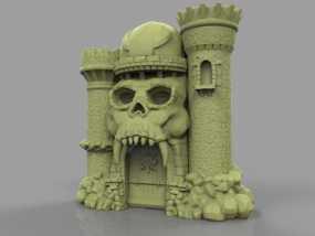 骷髅头城堡 3D模型