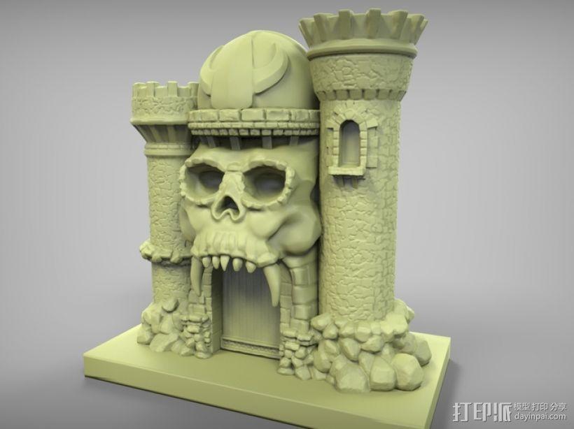骷髅头城堡 3D模型  图4