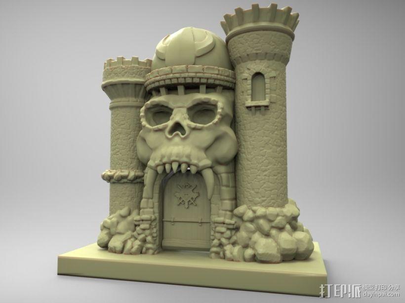 骷髅头城堡 3D模型  图5