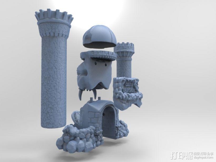 骷髅头城堡 3D模型  图7