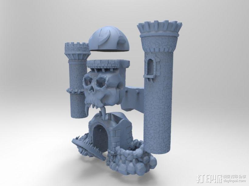 骷髅头城堡 3D模型  图6