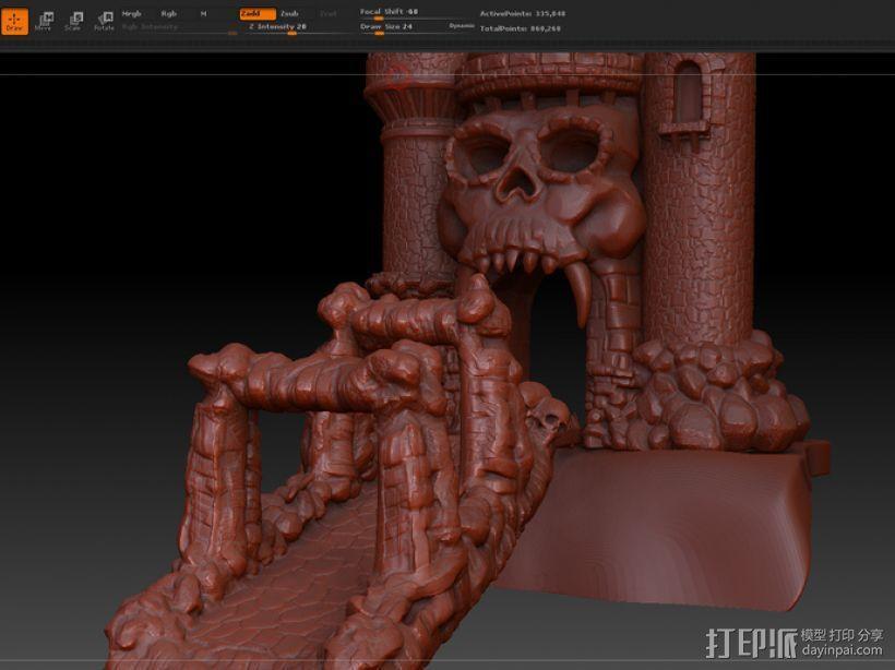 骷髅头城堡 3D模型  图8