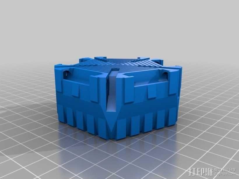 战争游戏中空投舱中的火箭 3D模型  图5