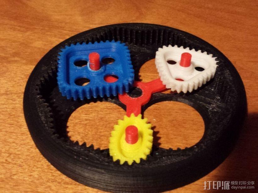 桌面式齿轮装置 3D模型  图3