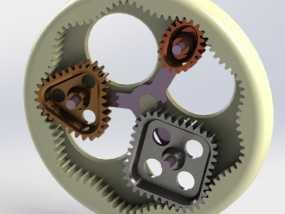 桌面式齿轮装置 3D模型