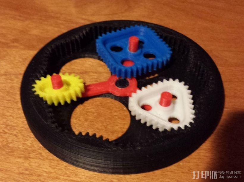 桌面式齿轮装置 3D模型  图4