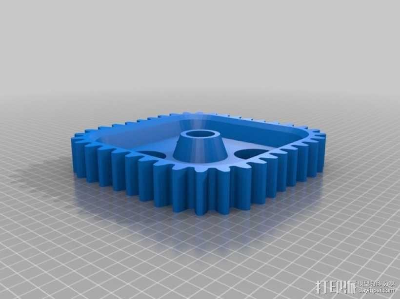 桌面式齿轮装置 3D模型  图6