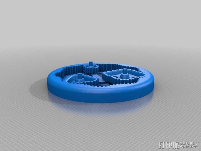 桌面式齿轮装置 3D模型  图14
