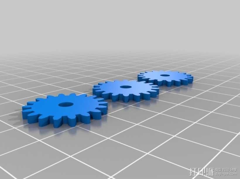 人力驱动装置 3D模型  图3