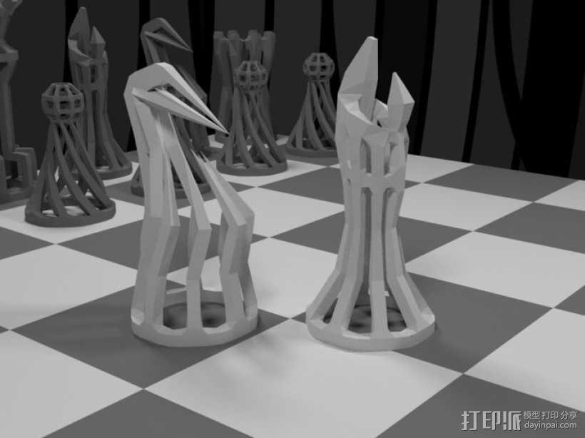镂空象棋 3D模型  图3