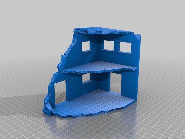 套嵌式建筑结构 3D模型  图2