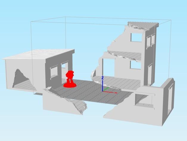 套嵌式建筑结构 3D模型  图4