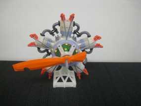 五星形发动机 3D模型