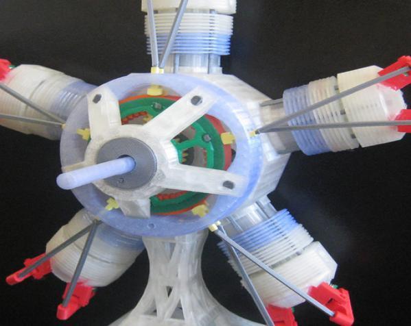 五星形发动机 3D模型  图2