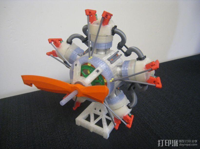 五星形发动机 3D模型  图5