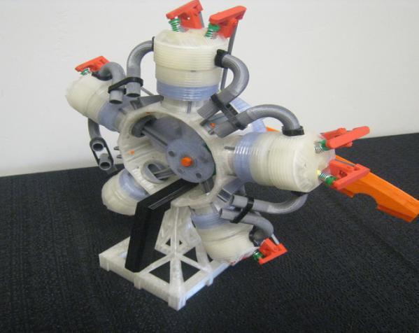 五星形发动机 3D模型  图4
