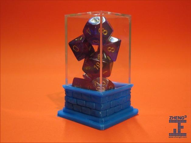 骰子柱基 3D模型  图1