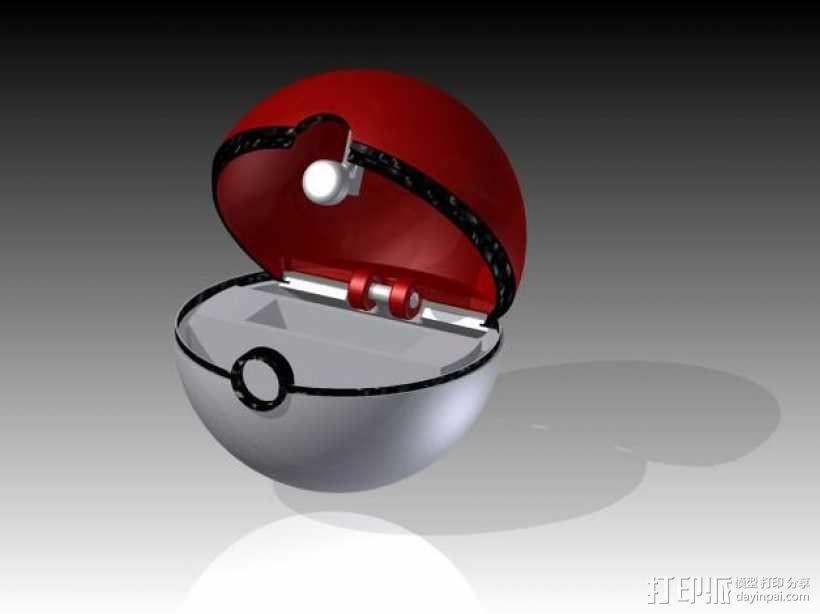 神奇宝贝球 3D模型  图1