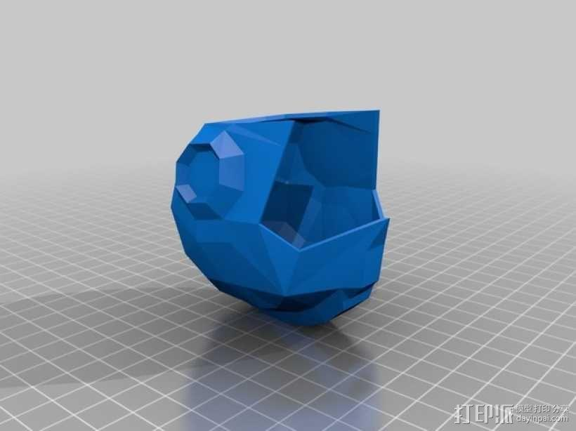 洛克人头盔 3D模型  图2