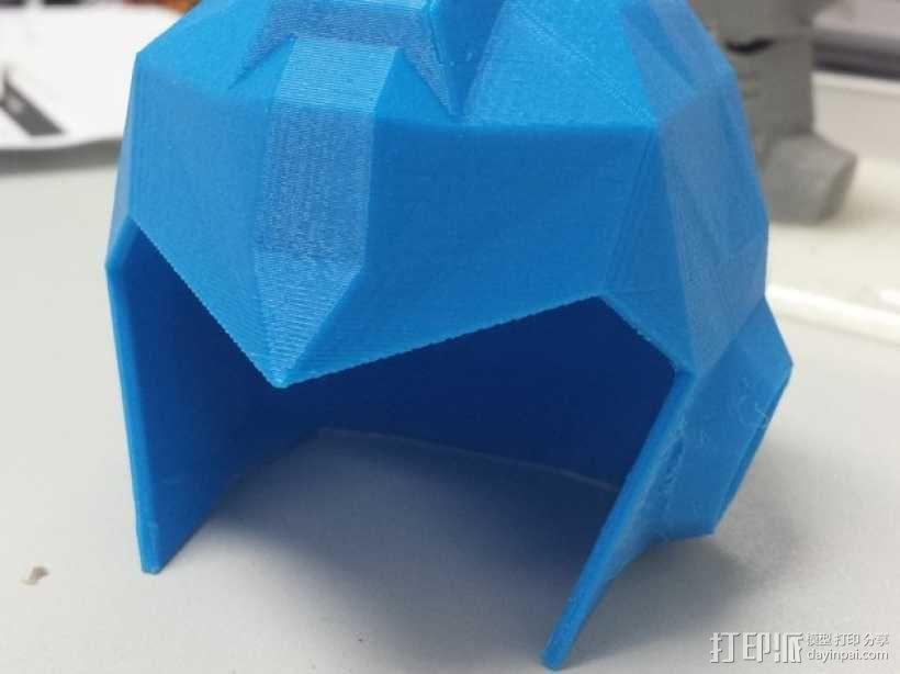 洛克人头盔 3D模型  图1