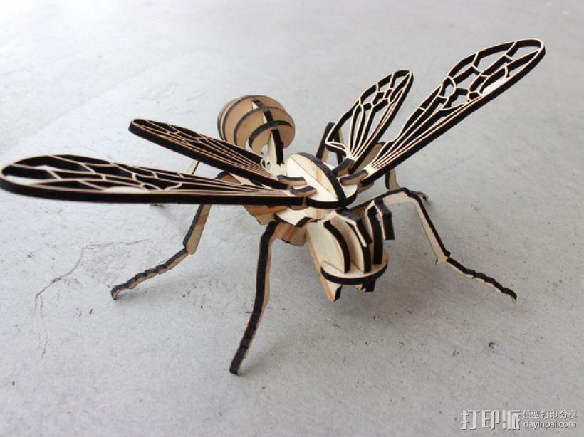 蜜蜂拼图 3D模型  图3