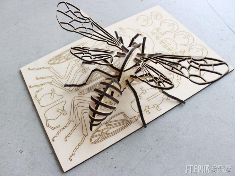 蜜蜂拼图 3D模型  图2