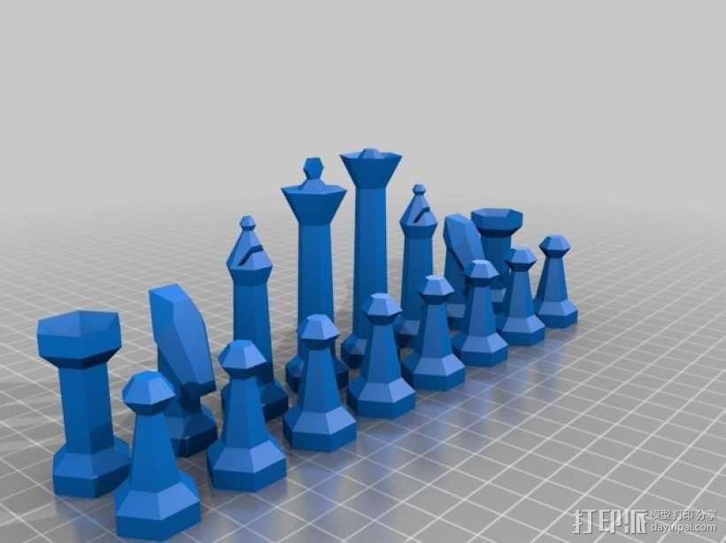 参数化象棋 3D模型  图1