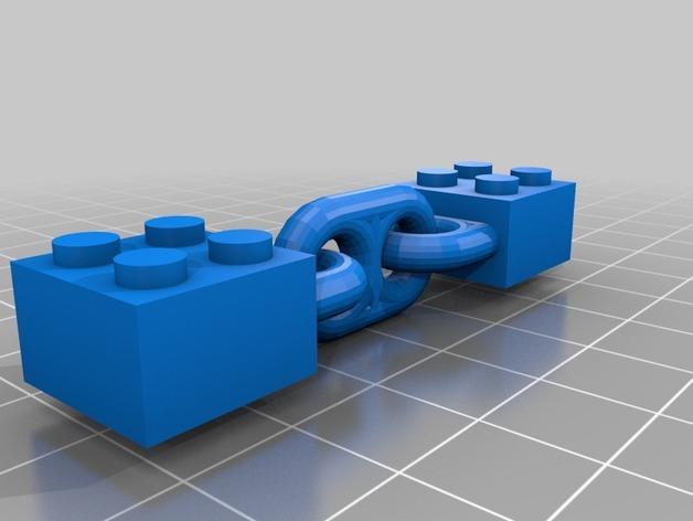 乐高锁链 3D模型  图2