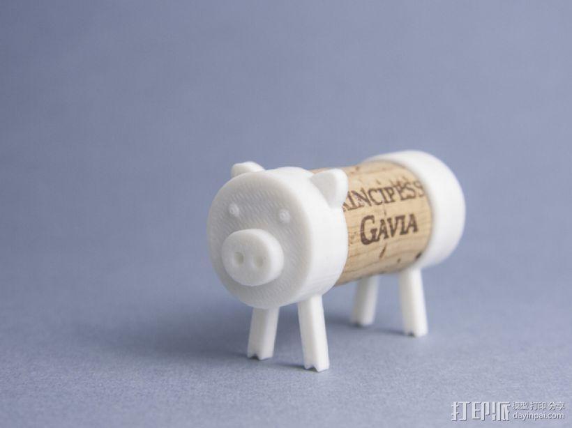 迷你软木猪 3D模型  图1