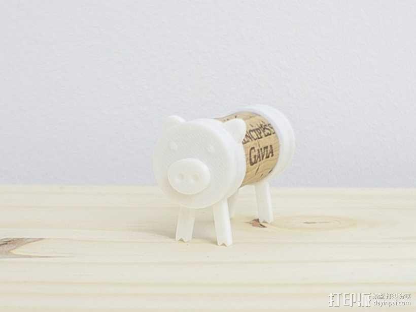 迷你软木猪 3D模型  图2