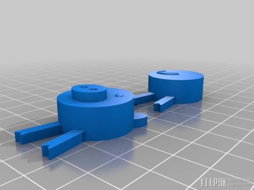 迷你软木猪 3D模型  图3