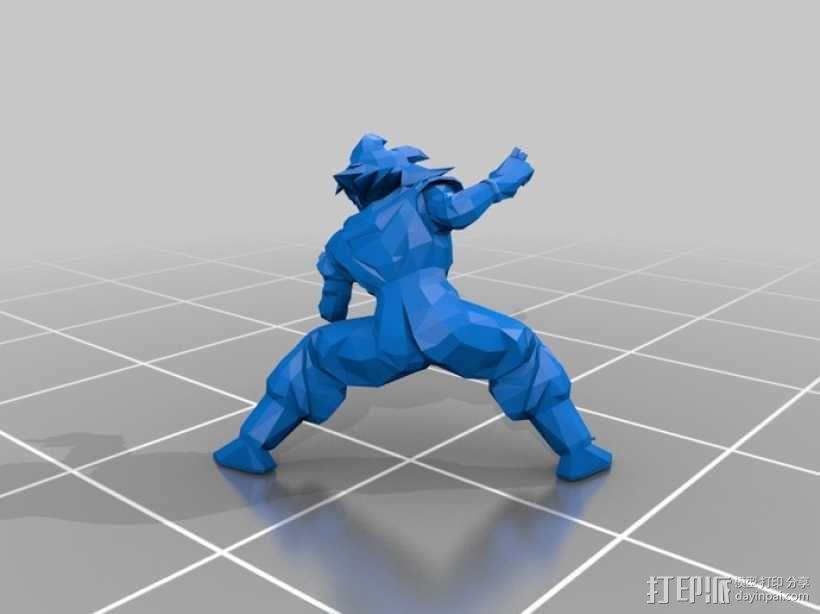 七龙珠孙悟空 3D模型  图1