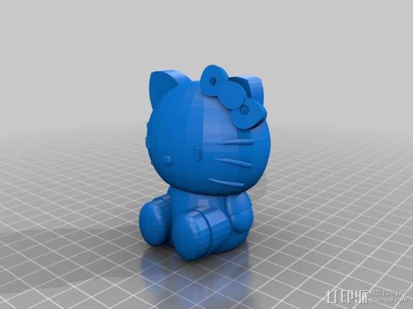 凯蒂猫 3D模型  图1